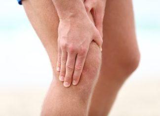 Knie gebeugt