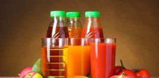 Saft und Obst und Gemüse Vitamine