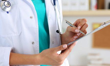 Diagnose beim Arzt -
